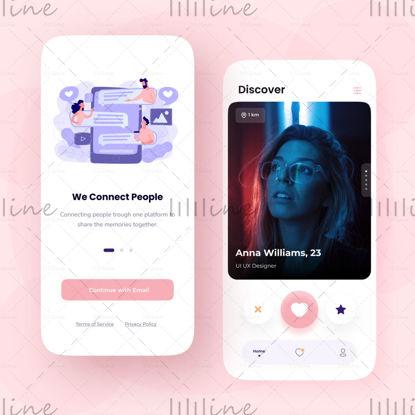 Diseño de aplicaciones de citas UI UX