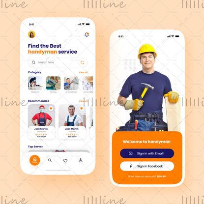 Servicio de manitas bajo demanda Diseño de aplicaciones UI UX