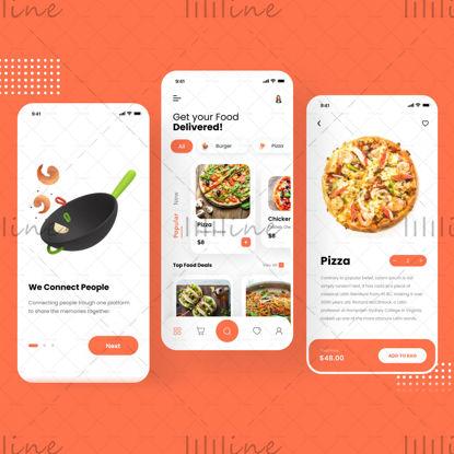 Diseño de aplicación de entrega de alimentos