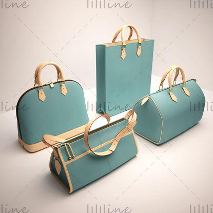 3d модель женской сумочки