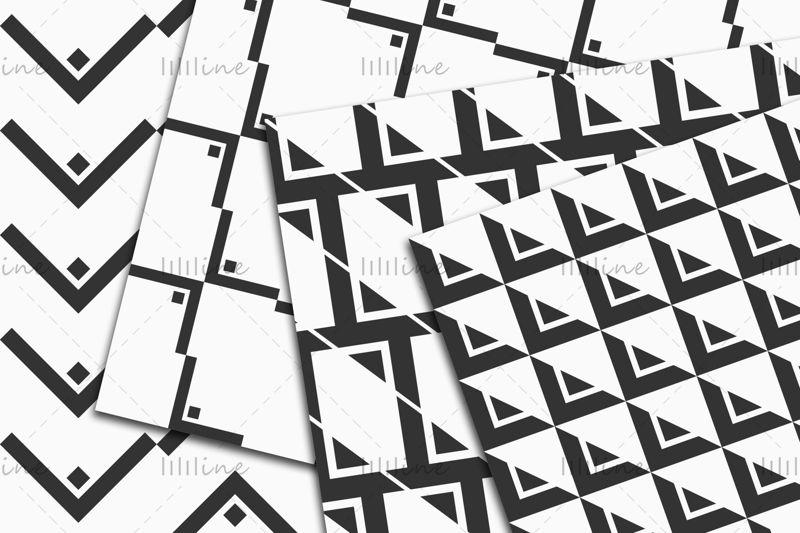 10 бесшовных векторных геометрических узоров