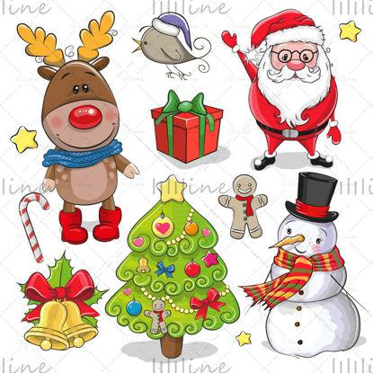 كارتون عيد الميلاد عناصر المتجهات
