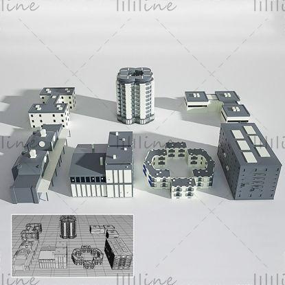 近代建築工場の3Dクリエイティブシーンモデル