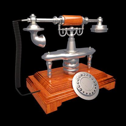 Антикварный телефон 3D Модель