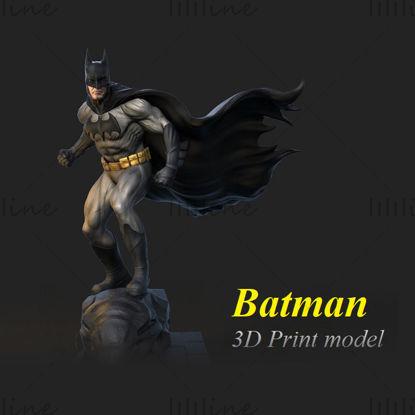 Modello 3D della statua di Batman - Pronto per stampare il modello di stampa 3D