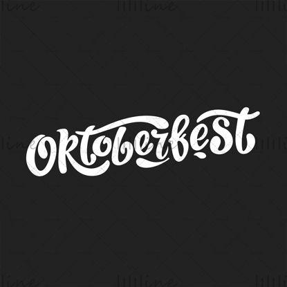 Letras manuscritas de Oktoberfest