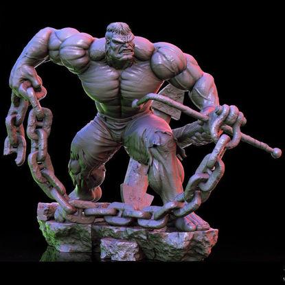 Hulk Just STL Digital Figure File Format Stampante 3D Router CNC Prodotto da solo