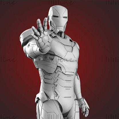 Iron man modello 3D STL per router CNC di stampa 3D Carved