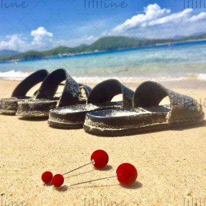 Папуче поред плаже