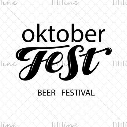 Oktoberfest sörfesztivál kézzel írt betűkkel