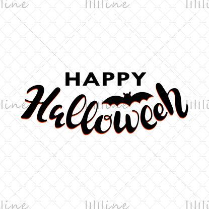 Boldog Halloween vektoros illusztráció