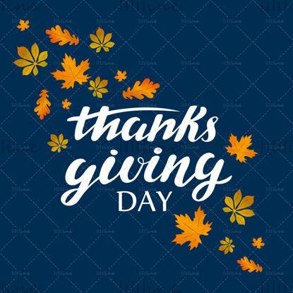 Hálaadás napja digitális kézi betűkkel