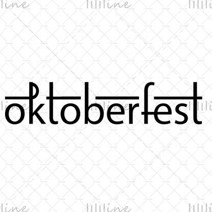 Oktoberfest elegante letras manuscritas