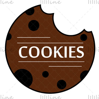 بیسکویت لوگو با حروف تصویری دیجیتال