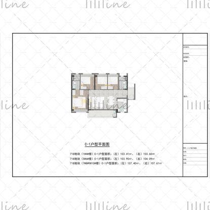 ملف مصدر PSD لمخطط الطابق