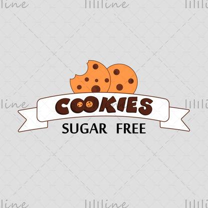 Sütik cukormentes logó vektoros illusztráció