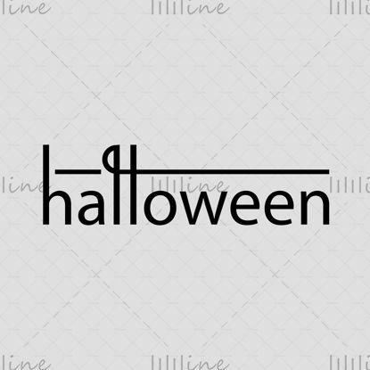 Halloween logó stílusos sor kézi betűkkel