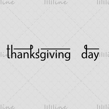 Hálaadás napja logó stílusos vonal kézi betűkkel