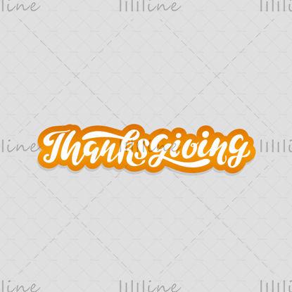 Hálaadás napja logó stílusos kézi betűkkel