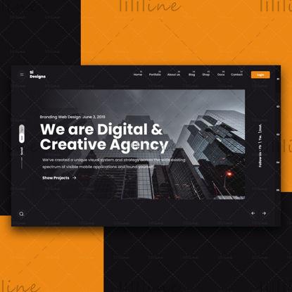 Agencia creativa Web Hero Design UI UX Design