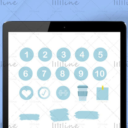 Digitális notebook matricacsomag