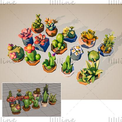 Cartoon kleine bloempot 3D-model