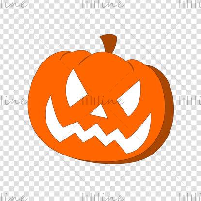 Narancssárga Halloween tök fehér szemmel és szájjal