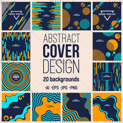 20 abstracte omslagontwerpsjablonen