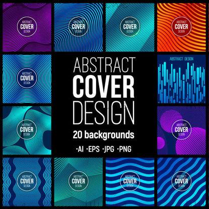 20 abstracte creatieve omslagontwerpsjablonen