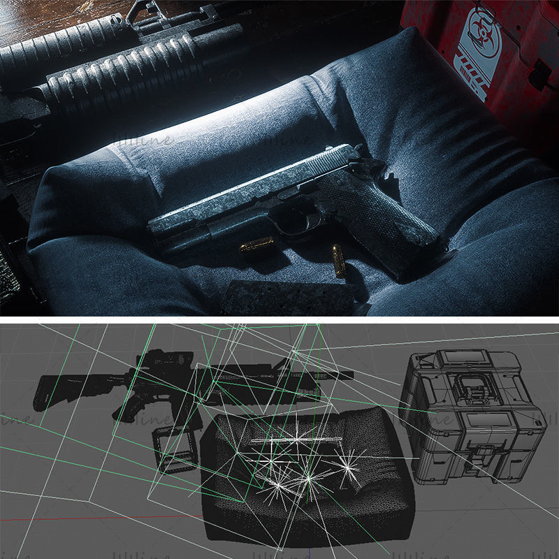 Varios formatos armas c4d armas de fuego modelos 3d modelos de armas modelos de armas de fuego