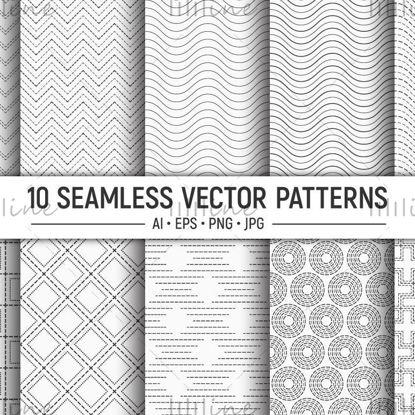 10 patrones de puntos vectoriales sin fisuras