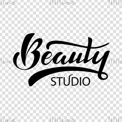 استودیوی زیبایی آرم دیجیتال دست نوشته حروف تصویر برداری