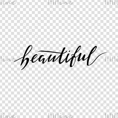 کلمات آرم دیجیتال زیبا با حروف برای زنان تصویر برداری