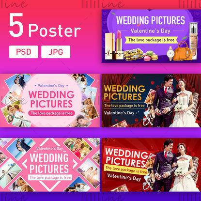 E-kereskedelem romantikus esküvő szerelmeseinek plakát banner