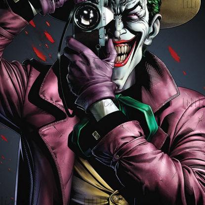 Estatua Joker toma una foto modelo 3D listo para imprimir