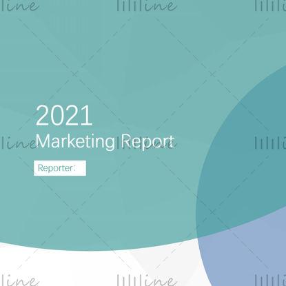Plantilla PPT de informe de marketing