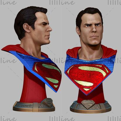 Busto de superman modelo 3d listo para imprimir