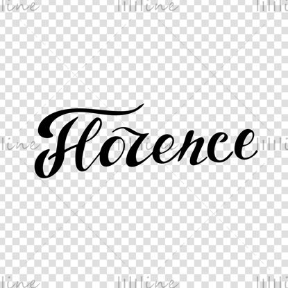 Letras de mano digital de la ciudad de Florencia Italia