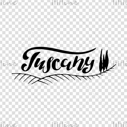 Letras de mano digital de Toscana Italia