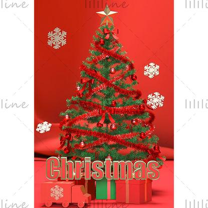 Varios formatos c4d navidad árbol de navidad modelo de fondo 3d