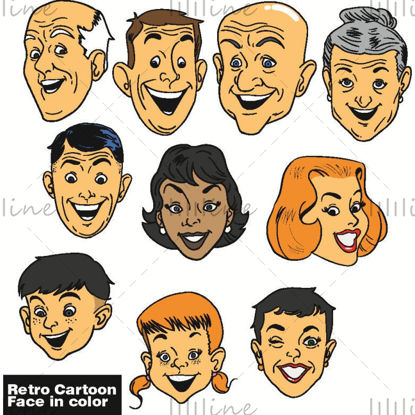 Retro Smile Face in kleur