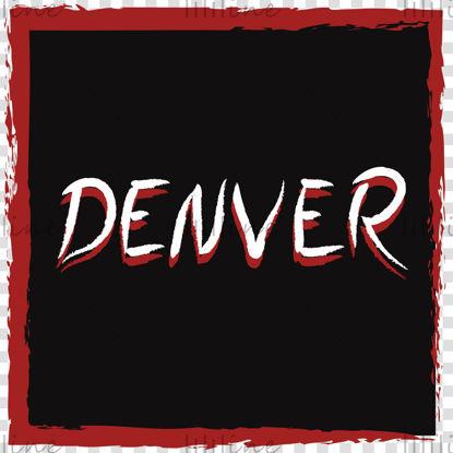 Plaatsnaam Denver handschrift