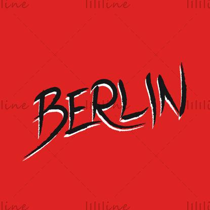 Berlijn, stadsnaam handschrift