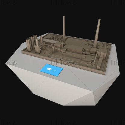 نموذج ثلاثي الأبعاد لطاولة الرمل للوسائط المتعددة