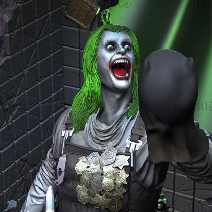 Joker statue dc comic modelo 3d formato STL para impresión 3d