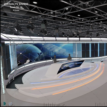 Noticias de Virtual TV Studio Set 35
