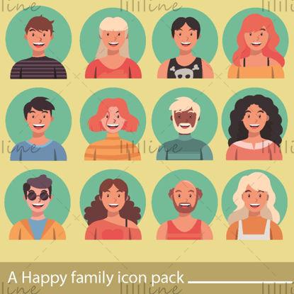 vector Happy Family-pictogram