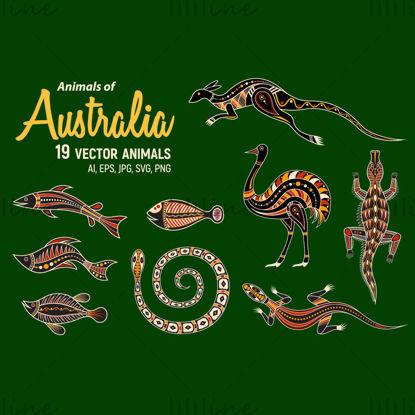 أيقونات الحيوانات الأسترالية