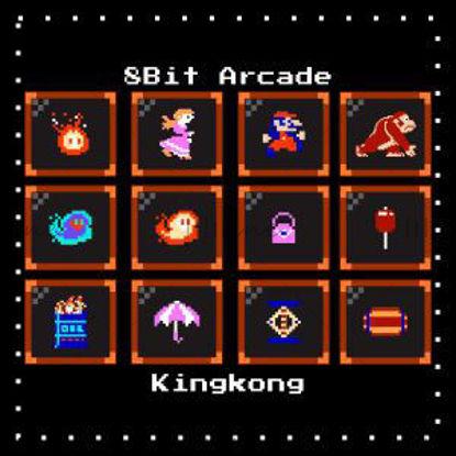 الرموز بكسل لعبة KingKong الممرات