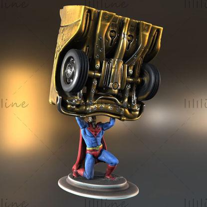 Modelo 3D de la estatua de Superman Imprimible para formato STL de impresión 3D
